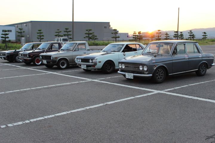 Toyota Crown, Nissan Sunny, Toyota Celica A20, Nissan Bluebird 410