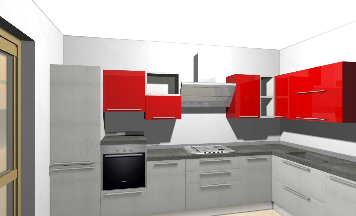 Awesome Cucina Rossa E Bianca Ideas - Amazing House Design ...