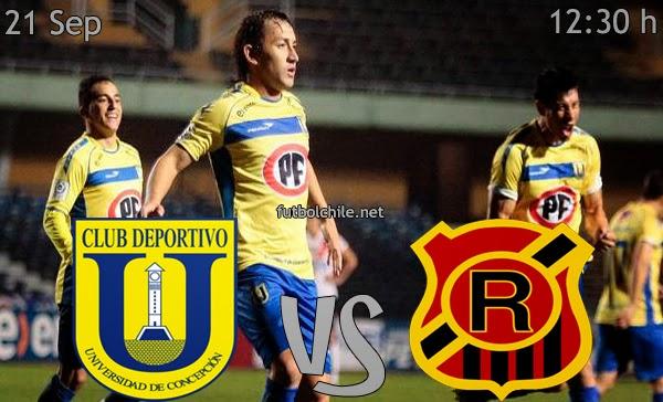 Universidad de Concepción vs Rangers - Campeonato Apertura - 12:30 h - 21/09/2013