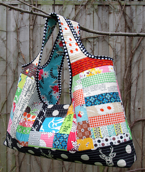 Red Pepper Quilts: Quilts As You Go - Patchwork Bags! : quilt as you go tote - Adamdwight.com