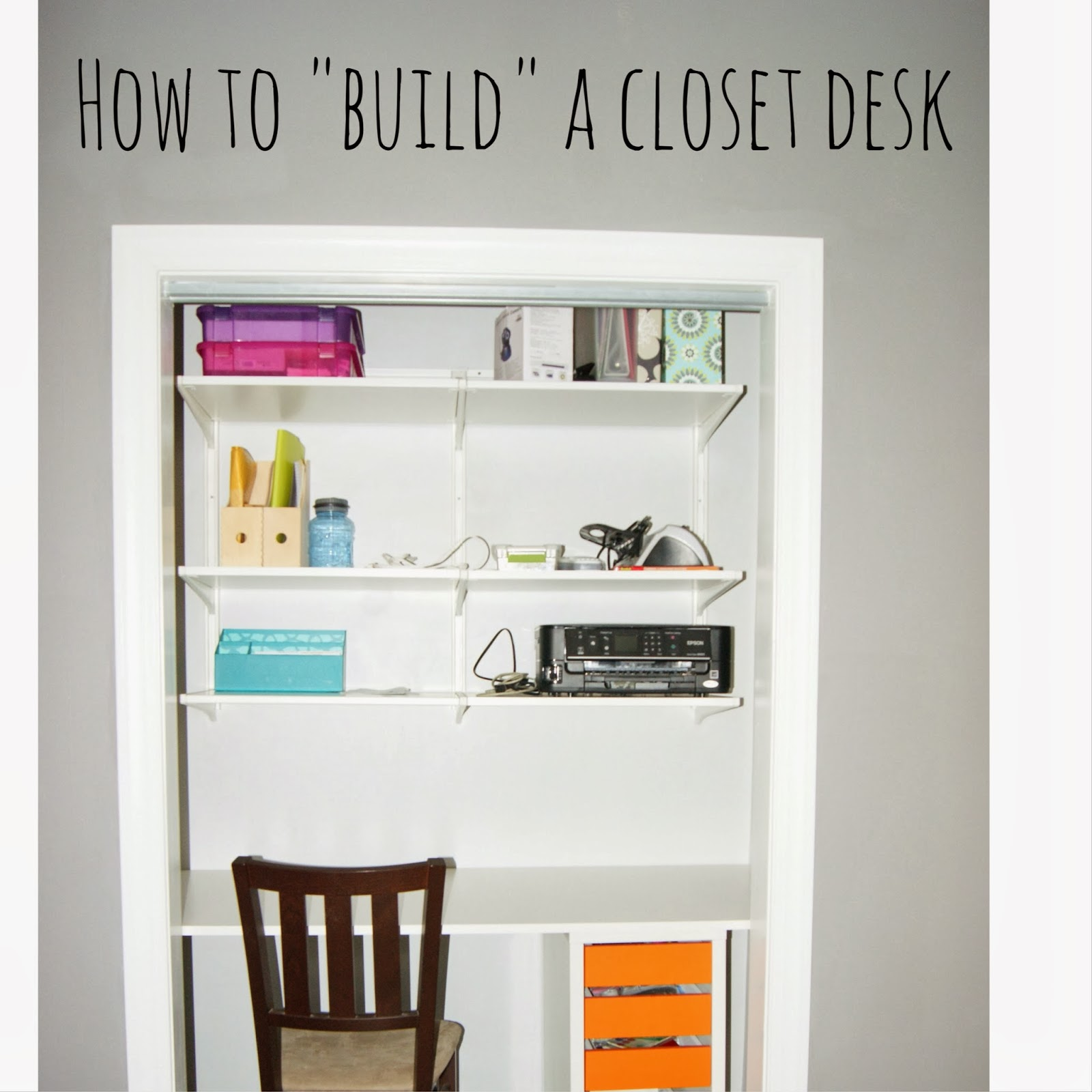 As I type this post, I am in a functional closet desk. I did not say  pretty. Or finished. But it is a desk and it is in the closet and it ...