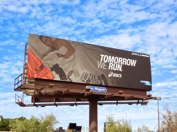 Asics Tomorrow we run LA Marathon 2014 billboard