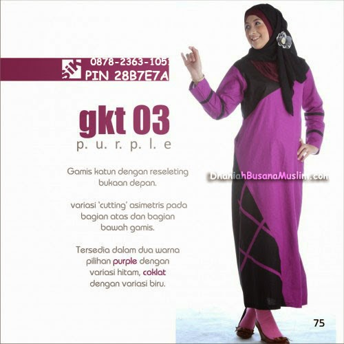 Gamis Sik Clothing GKT 03 Purple
