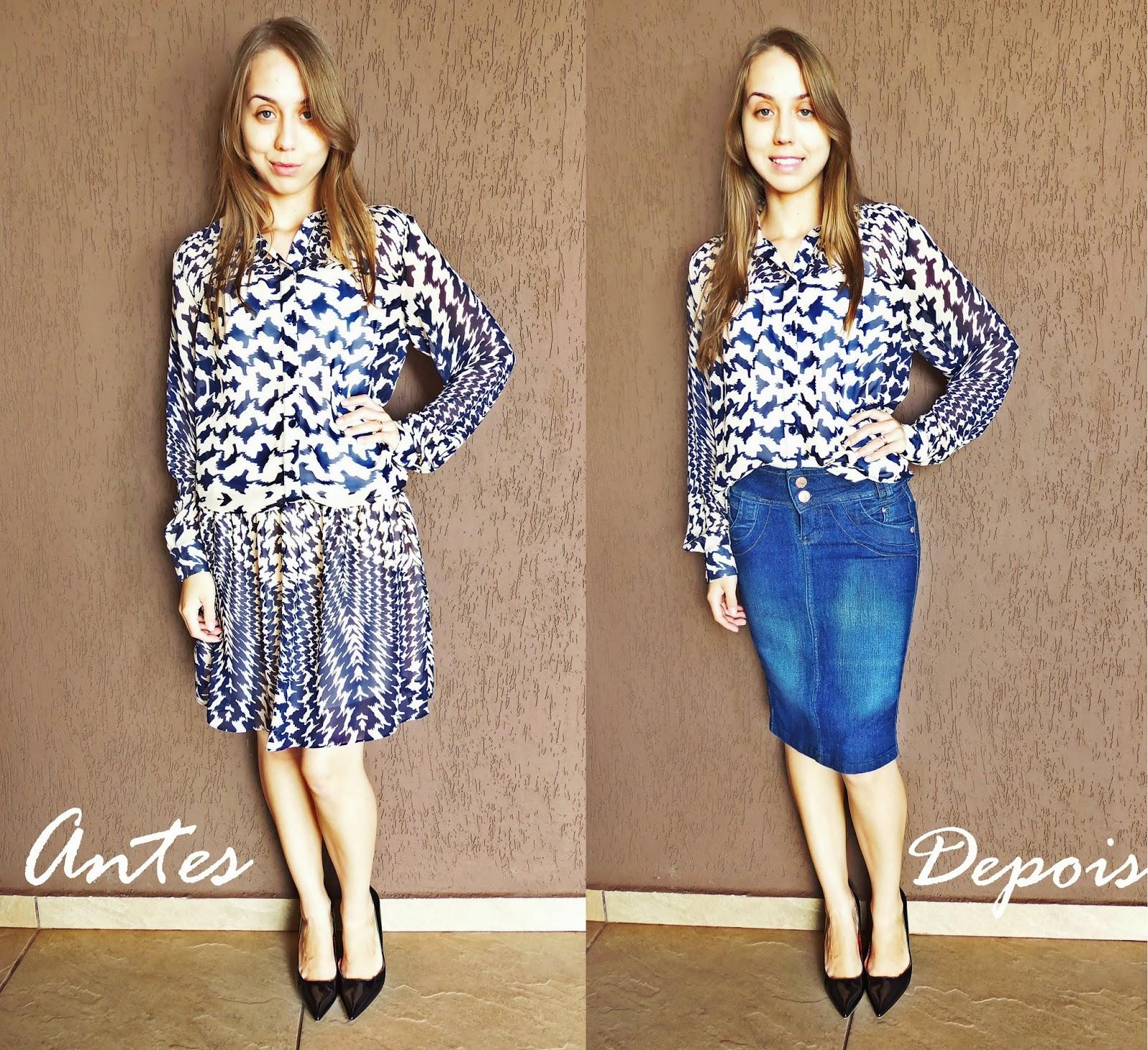 Customizando/reformando as roupas Miss Sainha Blog de moda para  #31689A 1600x1463