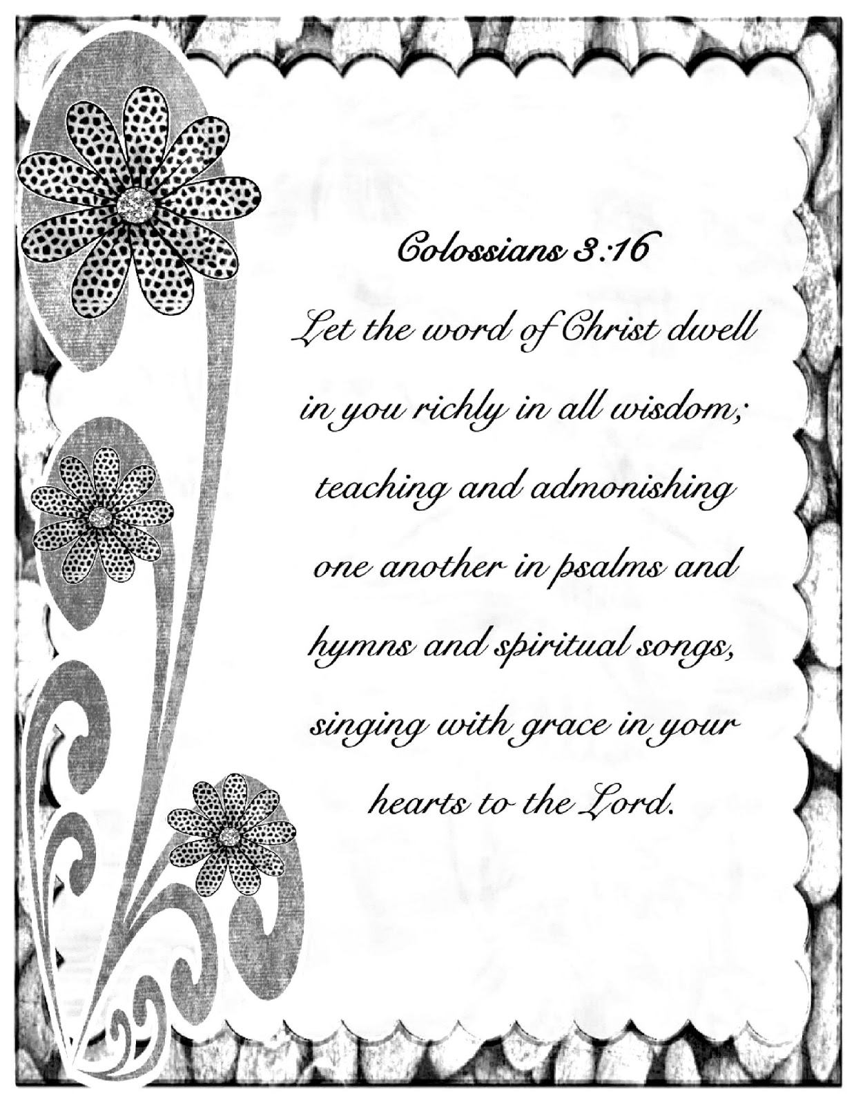 Christian Images In My Treasure Box: Colossians 3:16