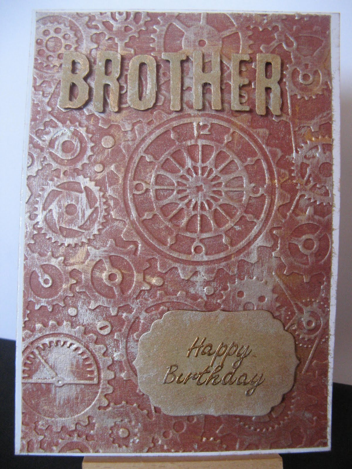 Cuttlebug Embossed Brother Birthday Card