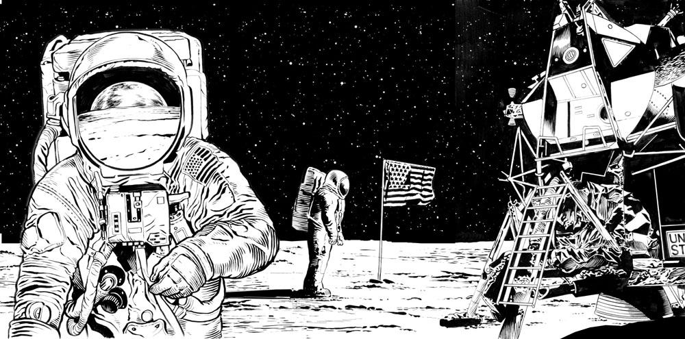 drawing apollo 11 moon lander - photo #37
