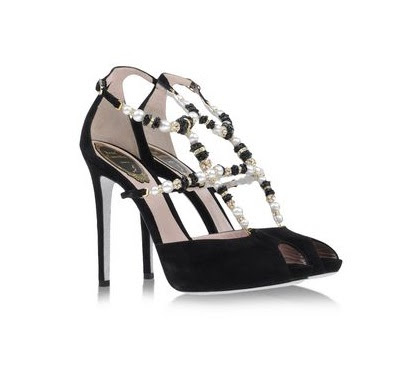 Rene Caovilla High Heeled Open toe with pearl straps