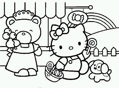 Beautiful Dibujos De Hello Kitty Para Pintar Parte