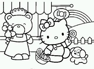 Dibujos de Hello Kitty para Pintar, parte 1