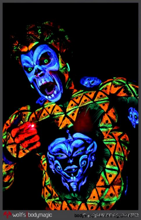 blacklight bodypaintI Love Body Art  I Love Body Art