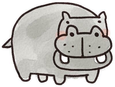 カバのイラスト(動物)
