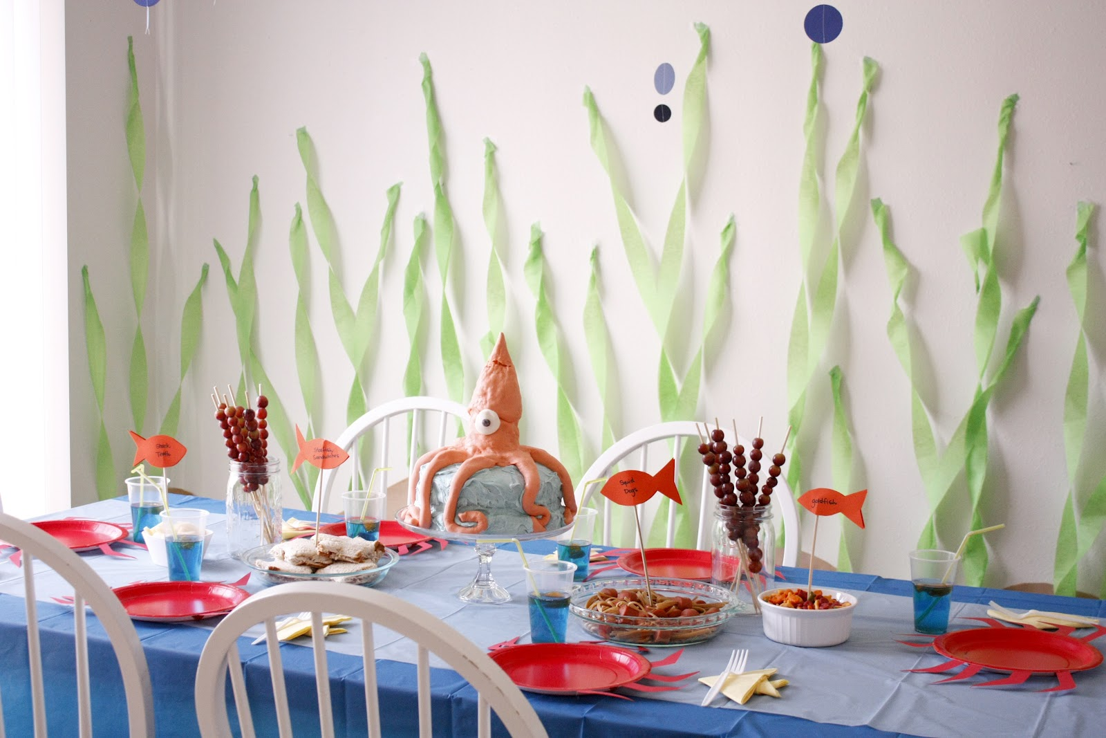 Under the sea birthday party part two - Pintura pared barata ...