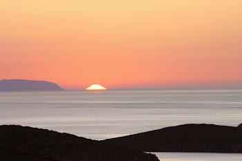 Sunrises from island of Syros,Greece