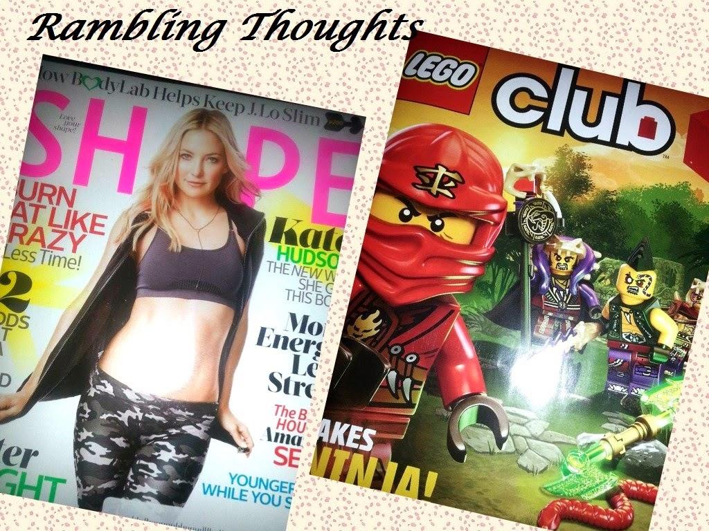Rambling Thoughts' mail freebies: Shape magazine and Lego Club Jr. magazine