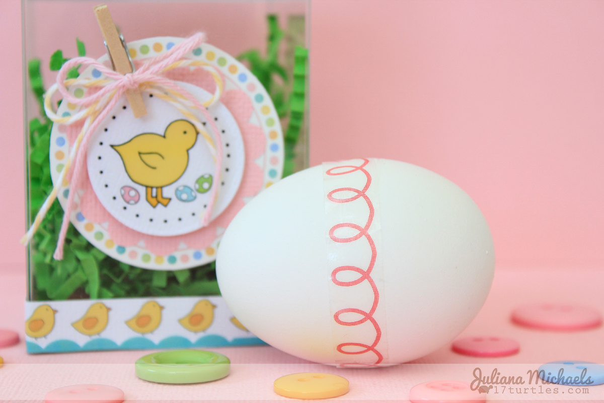 "SRM Stickers Blog - Easter ""Basket"" by Juliana - #easter #clear #container #stickers #borders #basket #twine"
