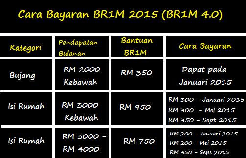 Borang Permohonan BR1M 2015 Secara Online