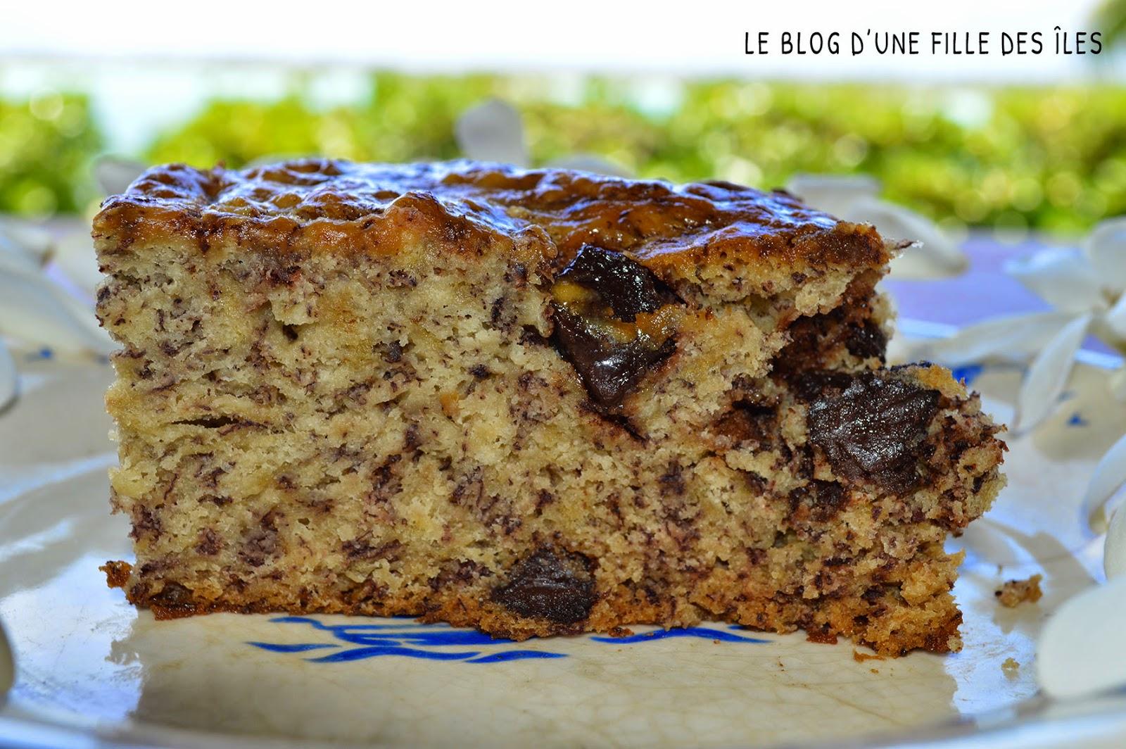 Recette cake banane pepite de chocolat