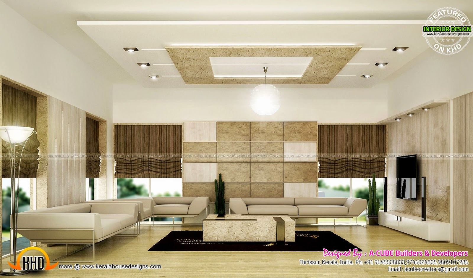 Interior Living And Dining Kerala Home Design And Floor Plans