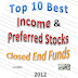 Best Income and Preferred Stock Closed End Funds 2012