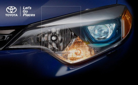 LED headlight, 2014, toyota corolla