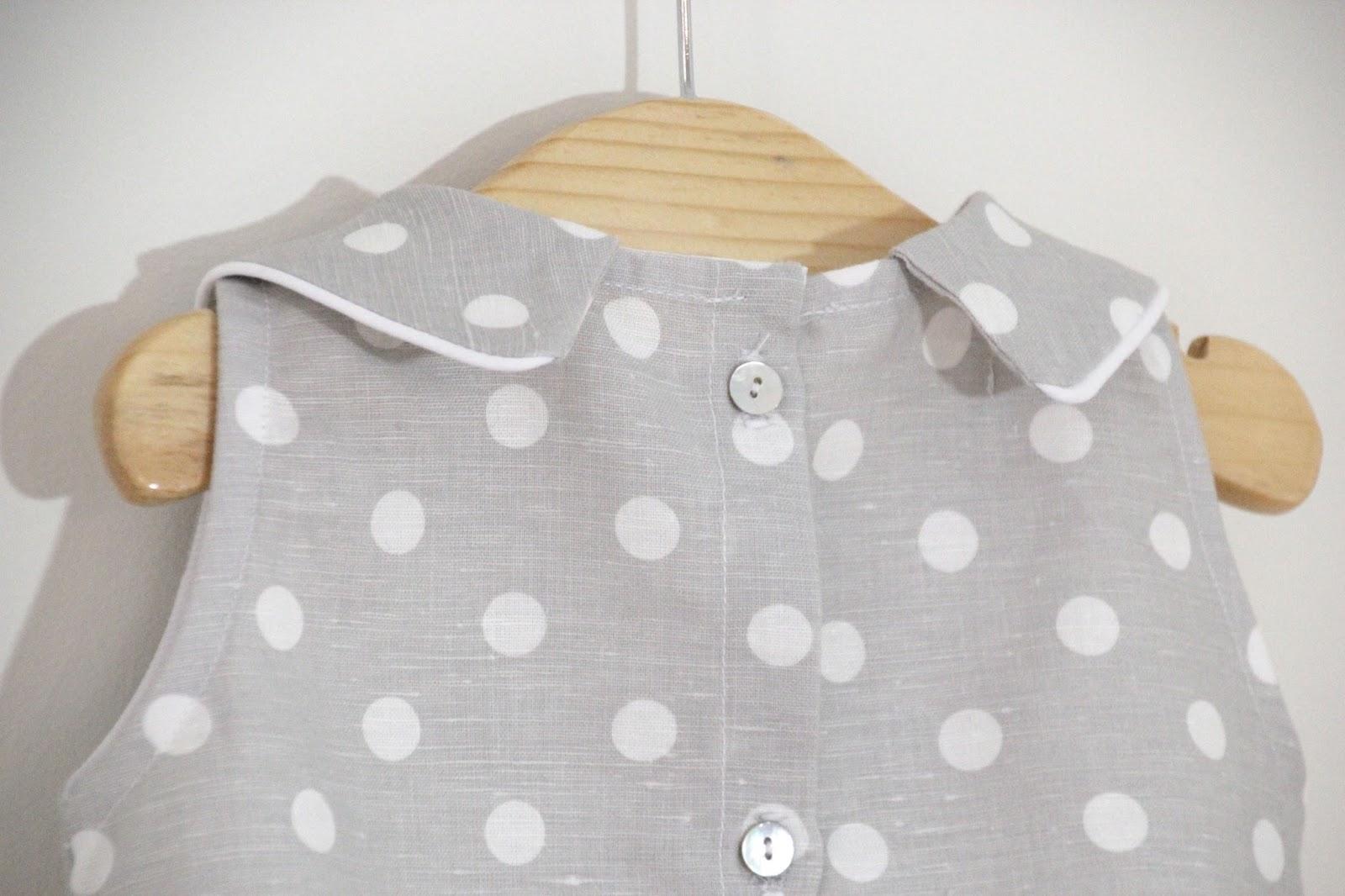 Tutorial y patrones: Pelele de lunares para bebe DIY | | Oh, Mother ...
