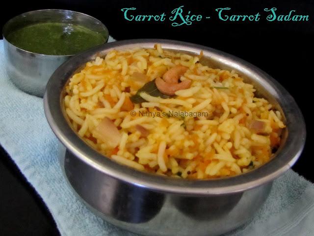 Carrot Rice | Carrot Sadam