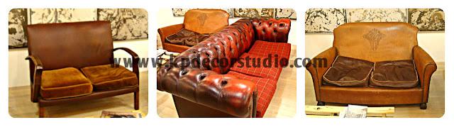 """alt=""""Sillones_sofás_vintage_antiguos_sofás_de_cuero_de_líneas_danesas_clásicas_sofás_chesterfield_cuero_rojo"""""""