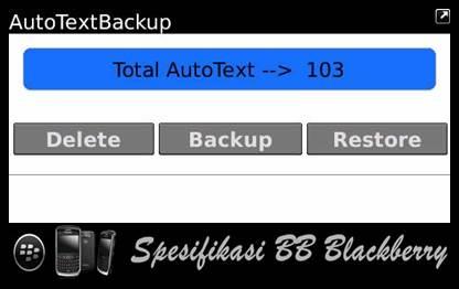 Autotext Backup