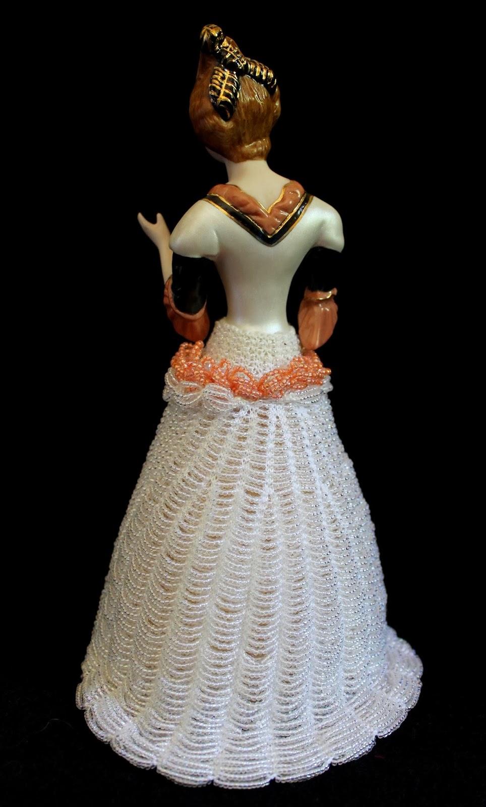 Beaded Knitting Patterns Half Dolls : Beading Belles: Beaded Skirt from Belle Bambole for Half Doll Cassandra