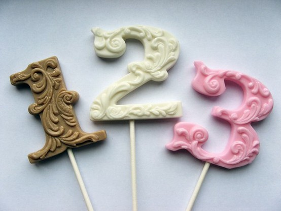 Candy in Weddings - Candy Table Numbers