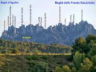 Vista de les regions d'Agulles i dels Frares Encantats
