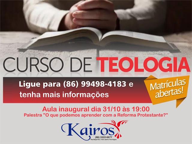 Matrículas abertas: Faça já seu curso de Teologia