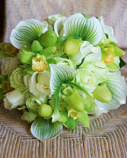 green wedding flower