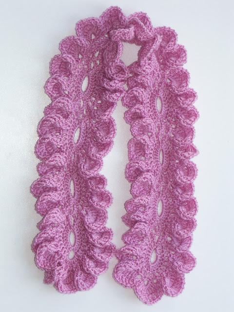 Японский ажурный шарфик крючком