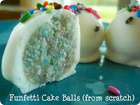 funfetti cake ball