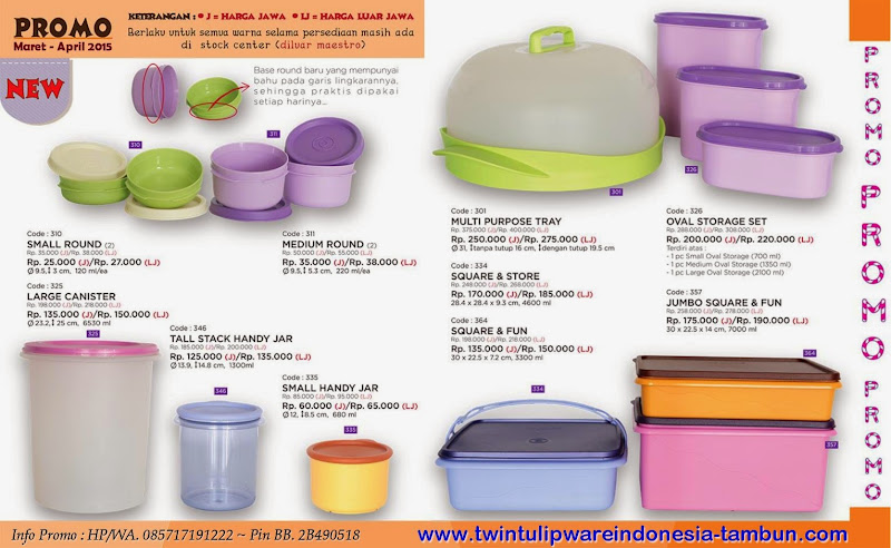 Promo Twin Tulipware Maret - April 2015 ~ Diskon
