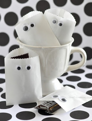 Papel Ghost bolsos del favor