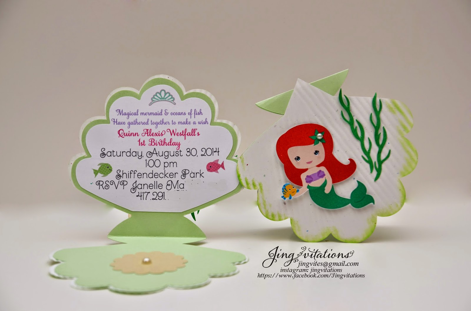 Birthday and Baby Shower Invitations: Princess