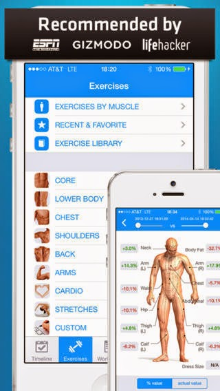 Fitness Buddy : 1700+ Exercise Workout Journal iphone app