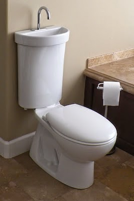 Sanitario que combina lavabo e inodoro para uso residencial