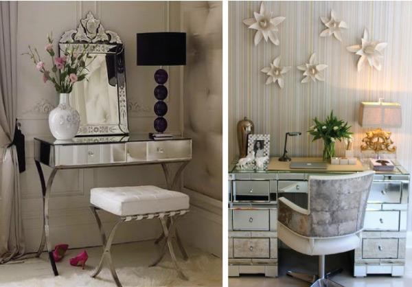 Cantinho de maquiagem: Penteadeiras espelhadas