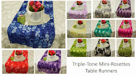 TABLE RUNNER IN MINI ROSETTES