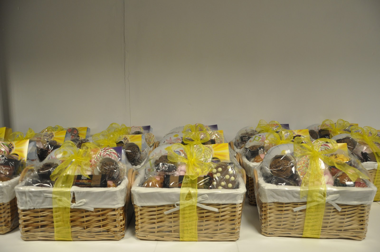 Easter basket presentation baskets galore great time and effort went in to choosing the products and arranging the easter baskets for our customers here are the final products ready for delivery negle Image collections