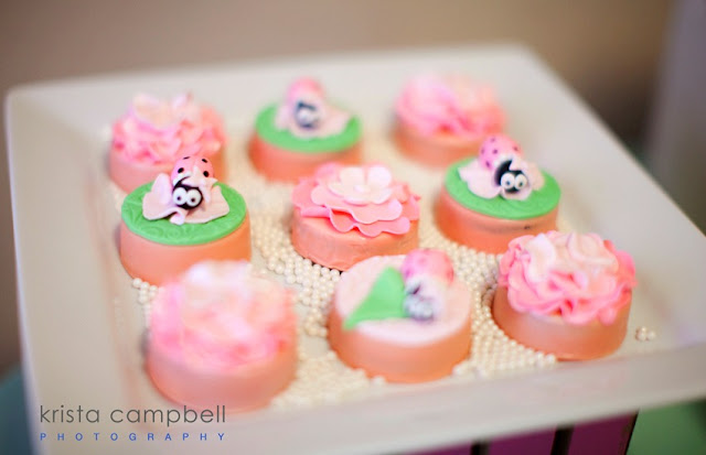 chocolate covered Oreos, dessert table ideas, baby shower, baby girl
