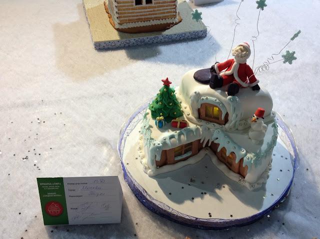 Новогодний торт Дед Мороз