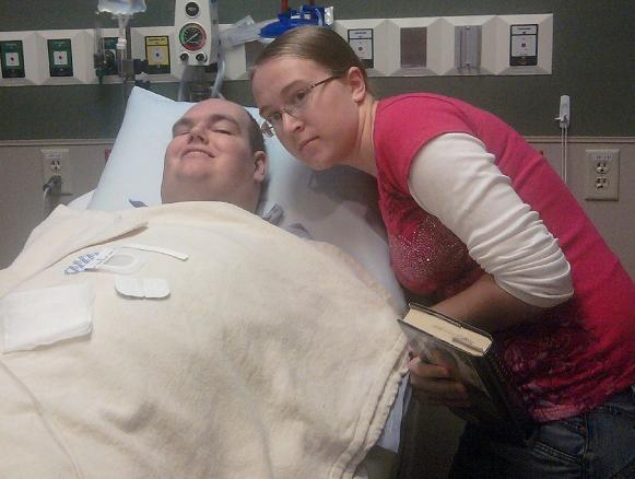 Preston and Missie before surgery