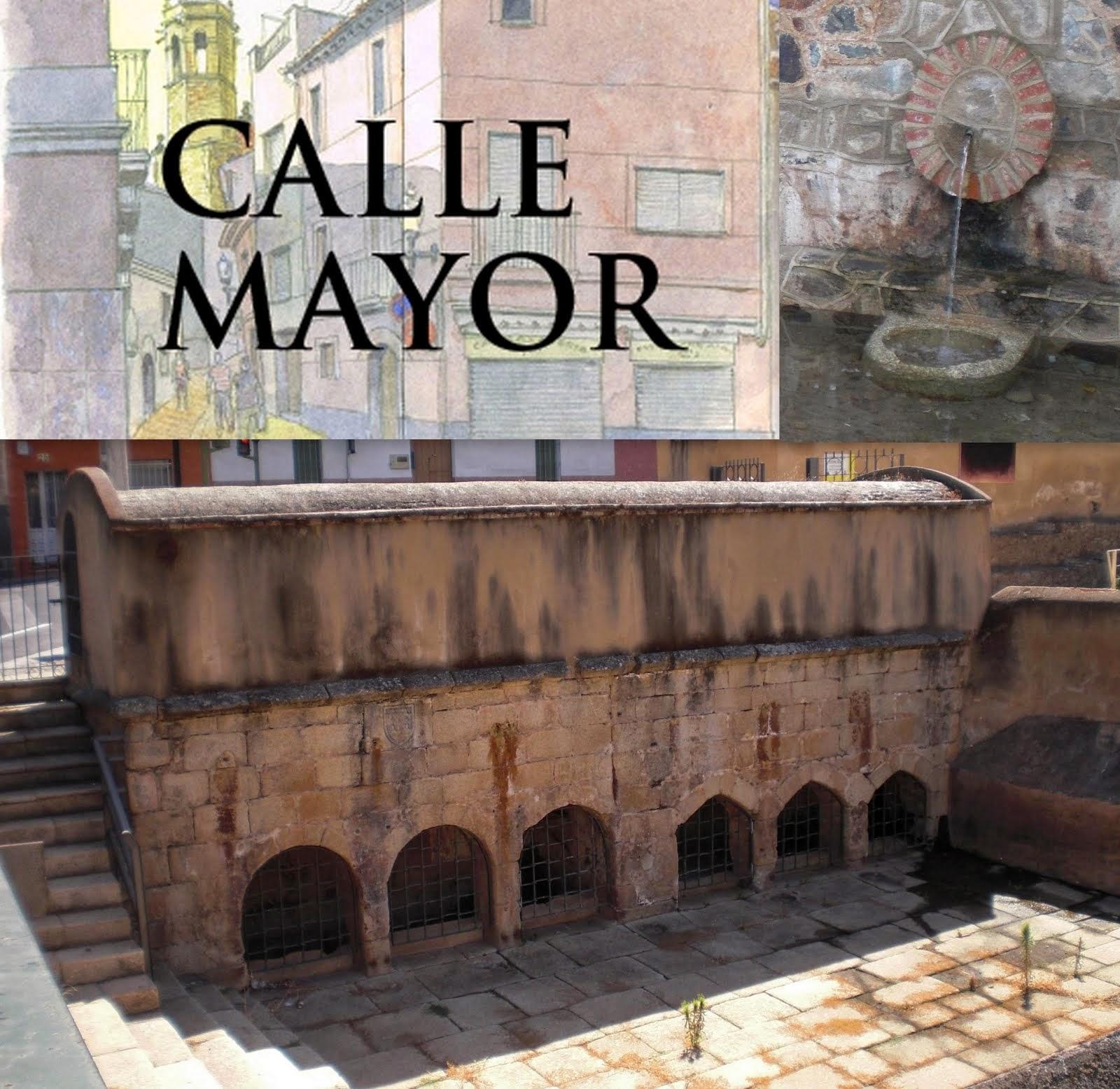 Calle Mayor: Antiguas fuentes públicas de abastecimiento de Cáceres