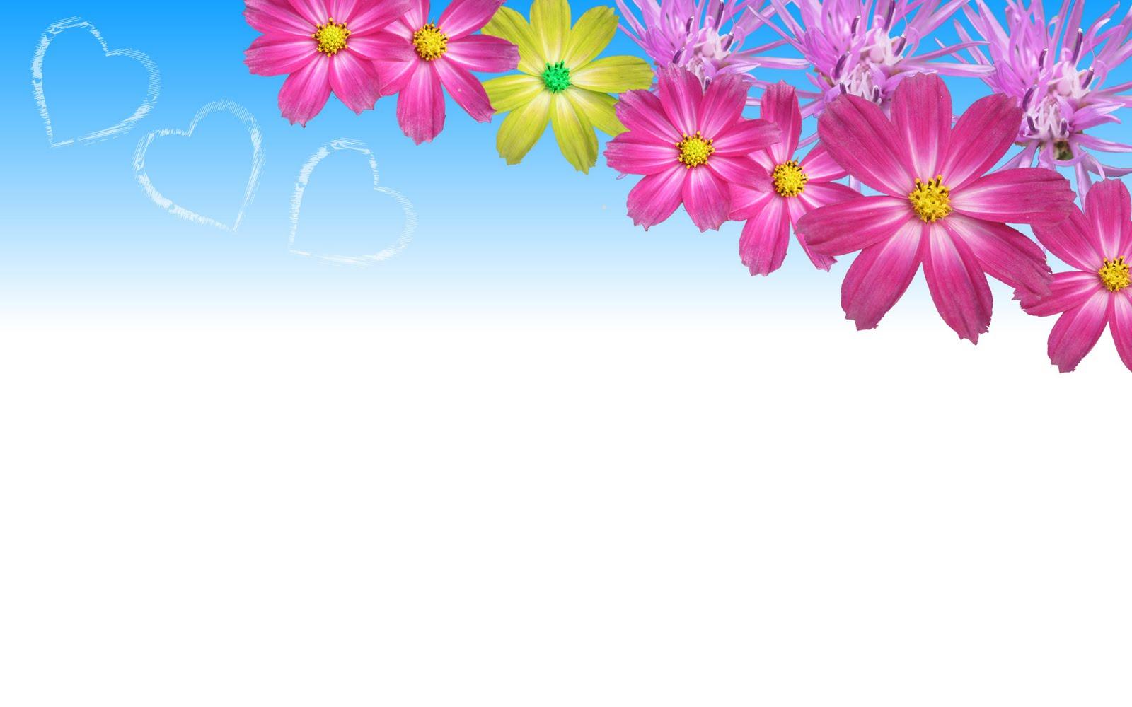 Love U Wallpapers Blue Flower Wallpaper