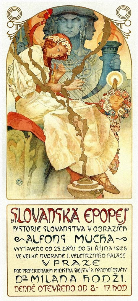 Hearsts International 1922 Poster Alphonse Mucha Poster NEW Art Picture Print